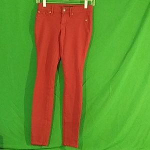 "Jessica Simpson red ""kiss me jeggings"" sz 25"""